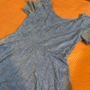 Blue Lace F21 skater style mini dress